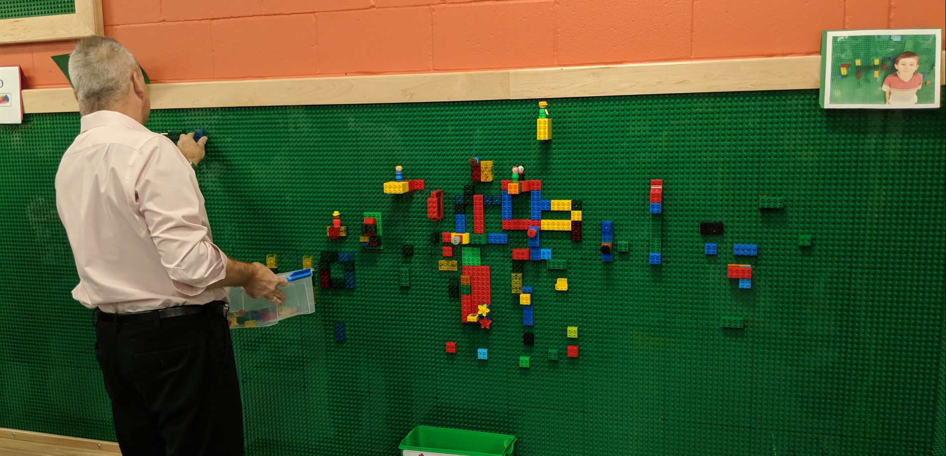 Our Lego wall is even fun for adults!