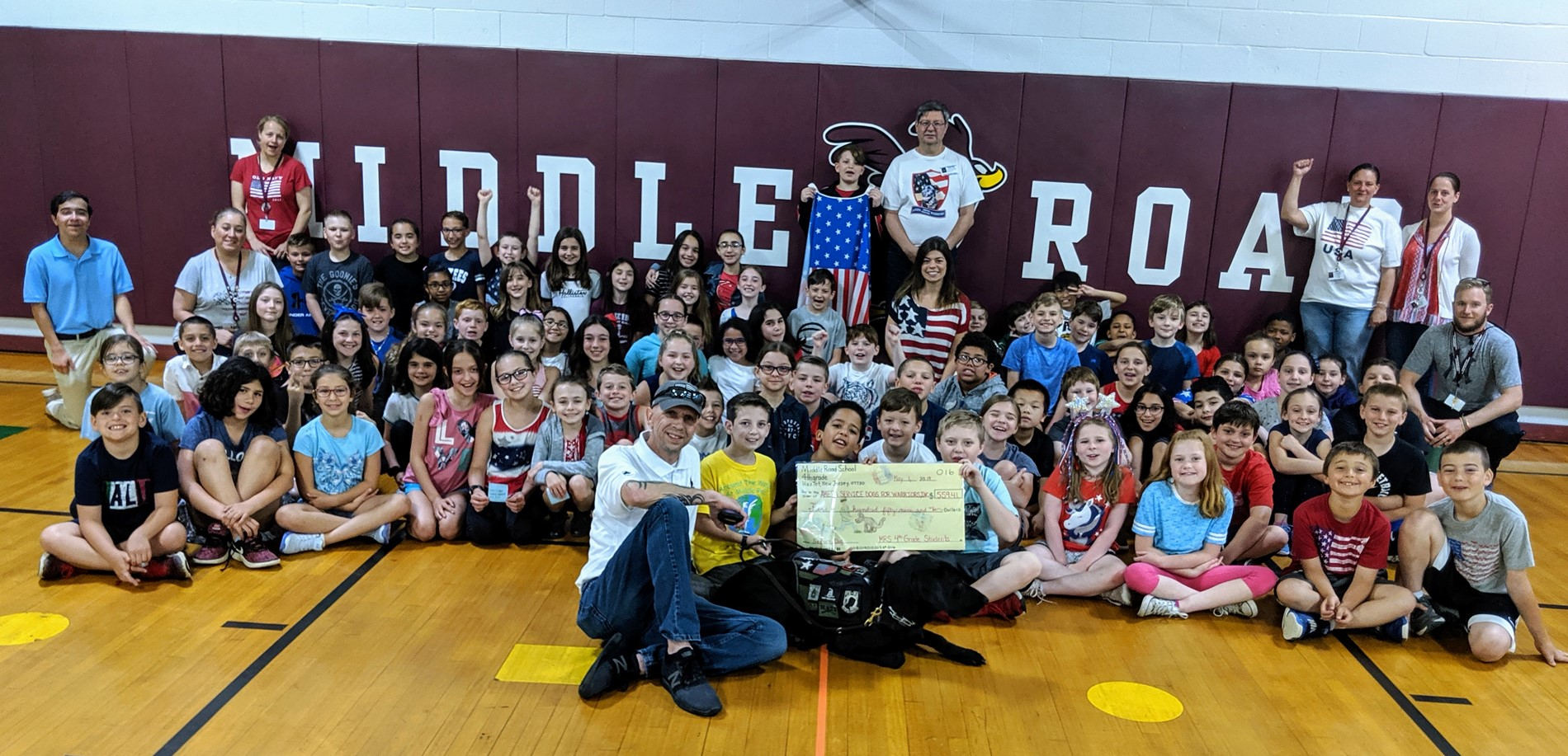 4th Grade students raised $560 for AHEPA Service Dogs for Veterans