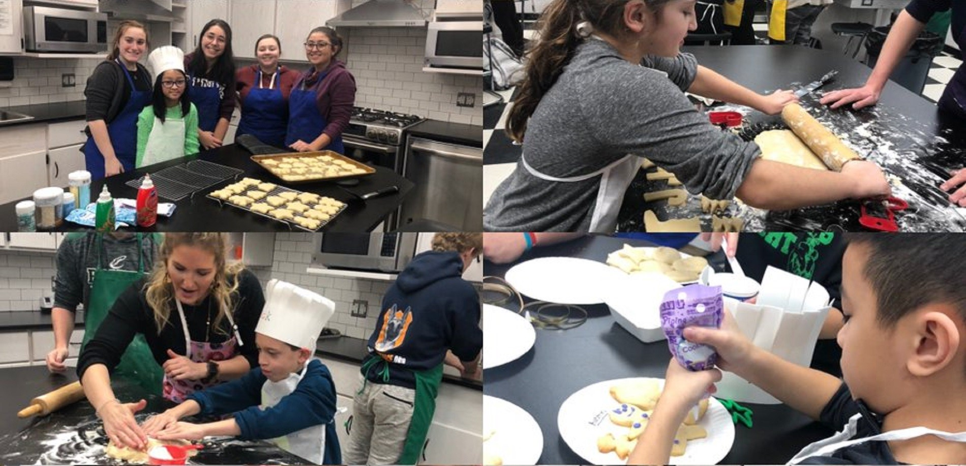 4th Graders Cooking Class with Raritan High