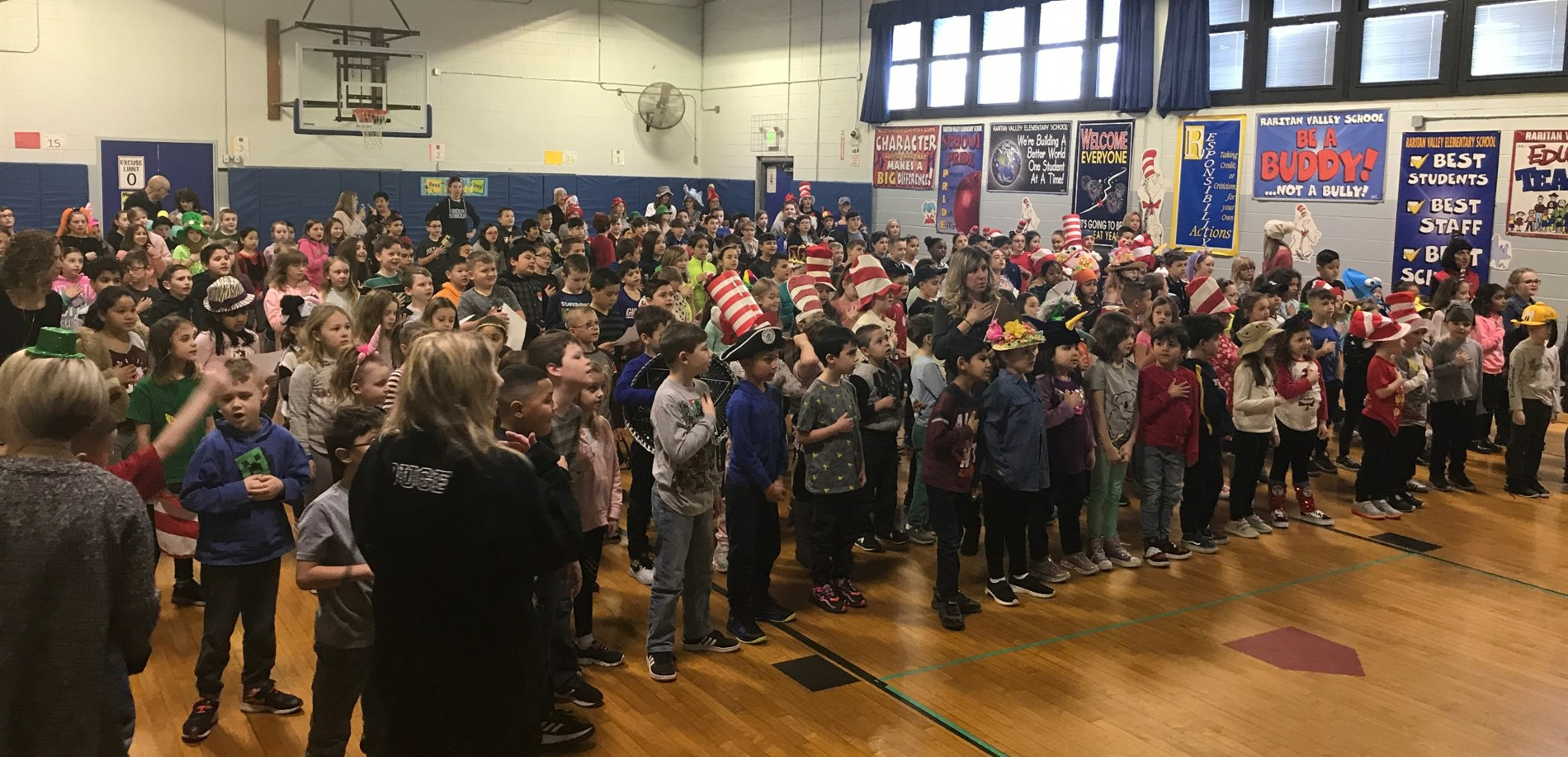 Raritan Valley Kicks Off Read Across America Week by Reciting the Read Across America Pledge